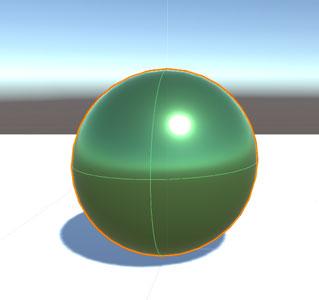 マテリアル適用後の『Sphere』