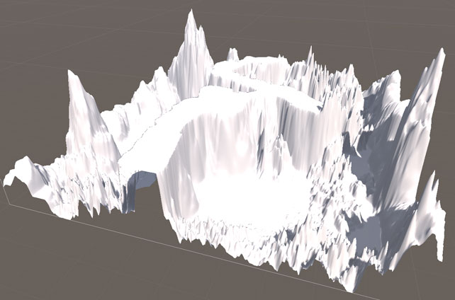 Terrain Engineで作った地形