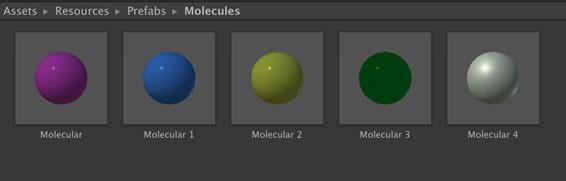 気体分子の色分け