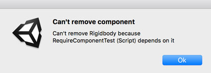 Can't remove component