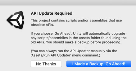 API更新の確認