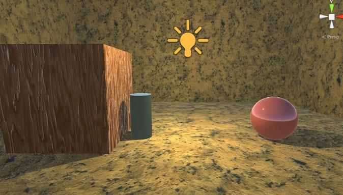 豆電球でぼんやりと