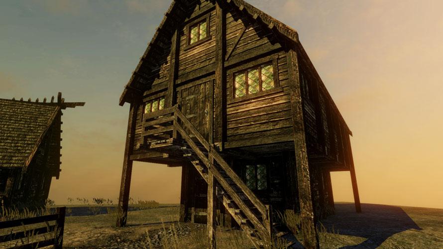 夕暮れの家