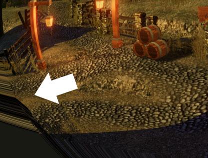端のピクセルが引き伸ばされている