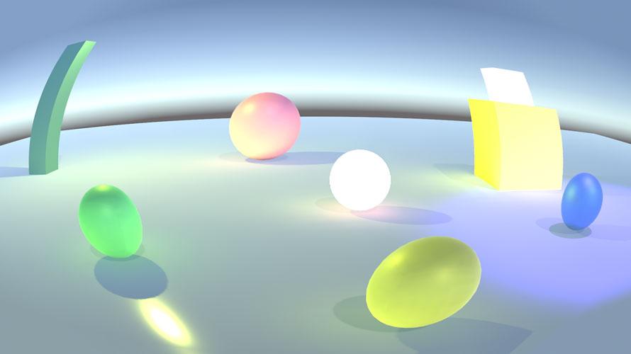 デフォルトのオブジェクトでLens Distortion