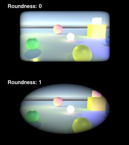 Roundnessの設定