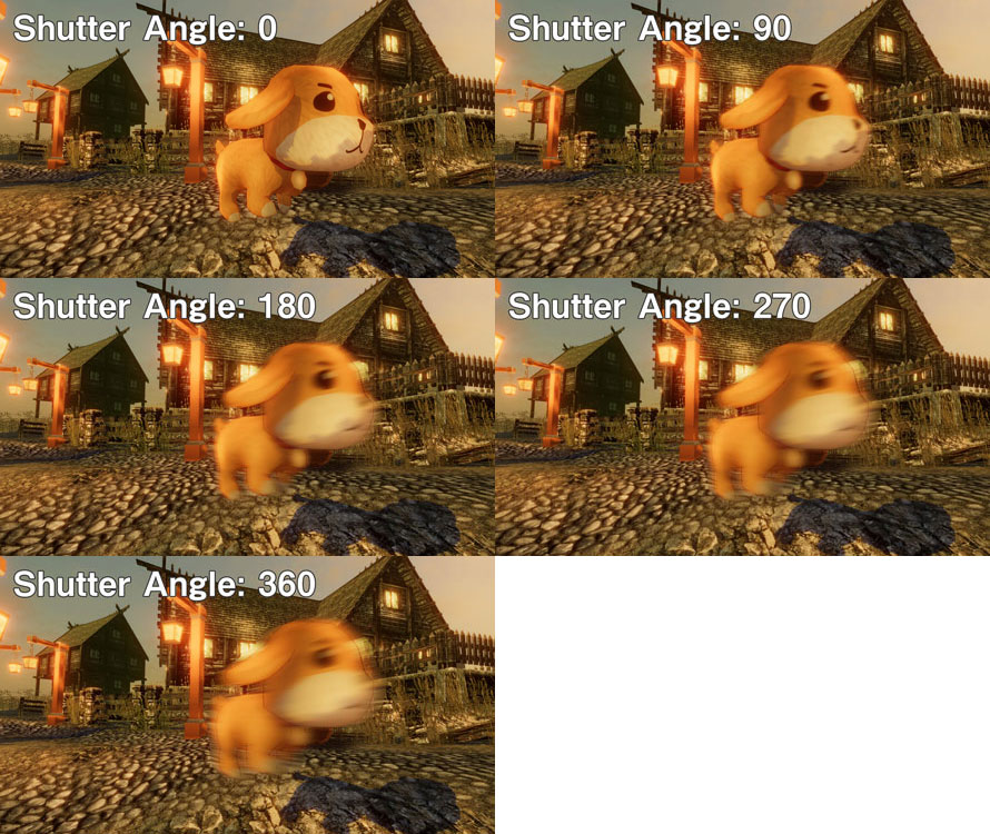Shutter Angleの比較