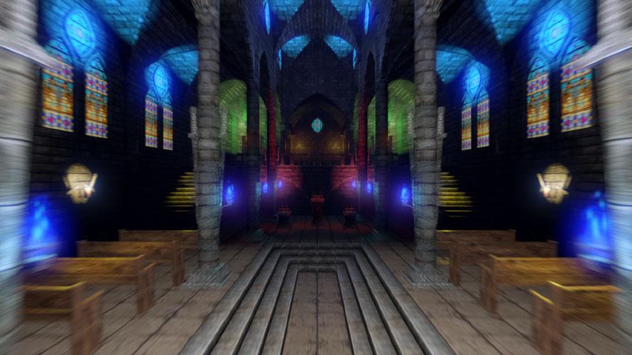聖堂の奥へ