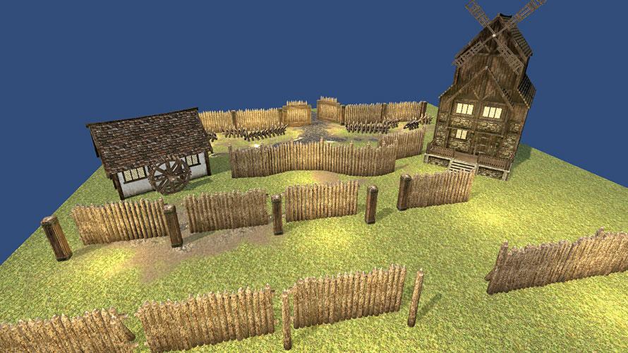 山に作られていそうな砦