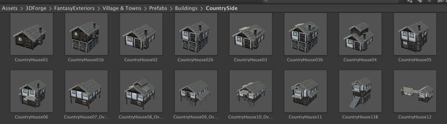 既に完成している家もたくさん