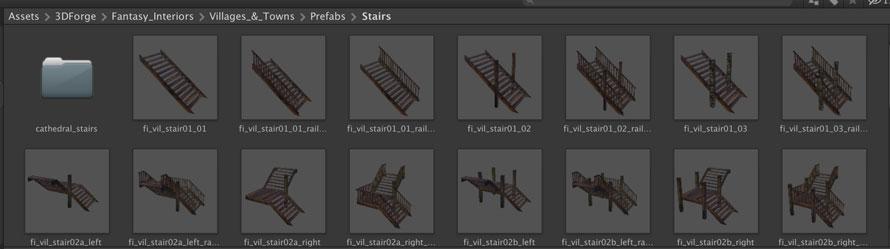 階段のオブジェクト