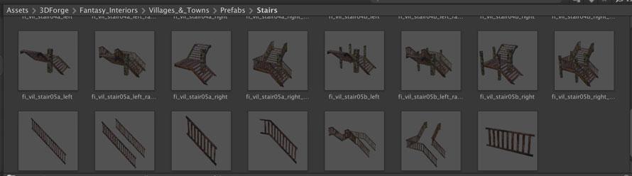 様々なタイプの階段がある