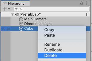 Cubeの削除
